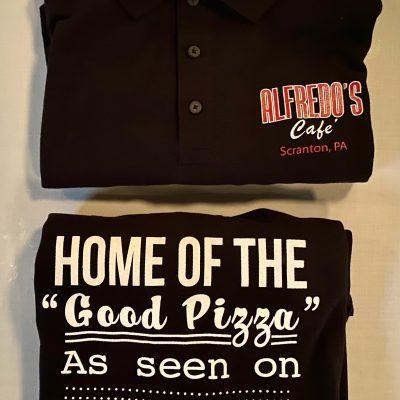 Alfredo's Café Fan Wear ~ Black Golf Shirts