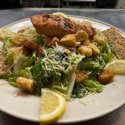 Classic Ceasar Salad with Salmon