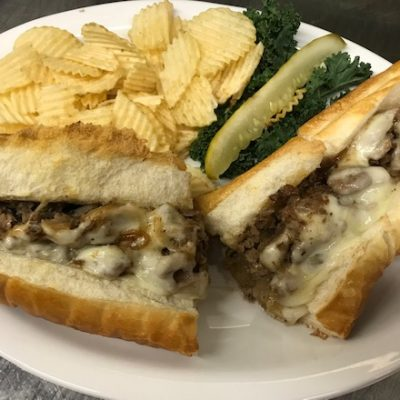 Cheese Steak Sub with Onions