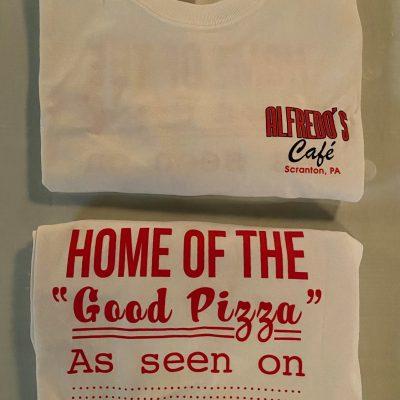 Alfredo's Café Fan Wear ~ White T-Shirts