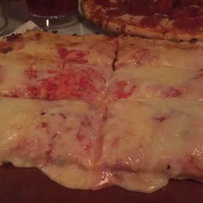 Alfredo's Famous Thick Pan Pizza  (Half Tray ~ 6 cuts)