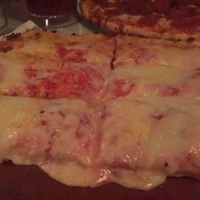 "Alfredo's ""Award Winning"" Pan Pizza  (Half Tray ~ 6 cuts)"
